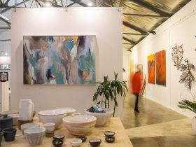 Arthouse retail gallery with ceramics and paintings
