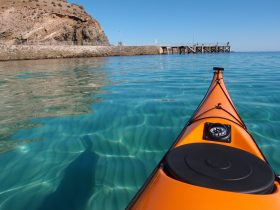 Clear water over rippled sand - sea kayaking at Second Valley on the FPSK Trail
