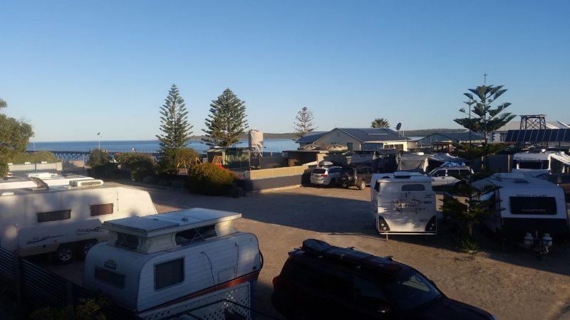 Caravan Park located on beachfront