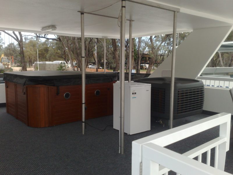 top deck with spa