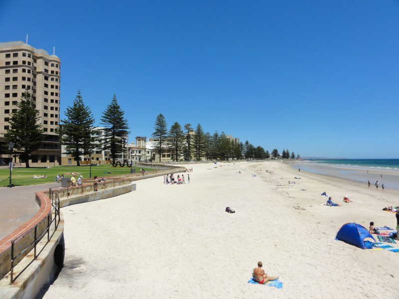 Glenelg beach and Holdfast Bay