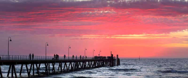 Glenelg Jetty at sunset