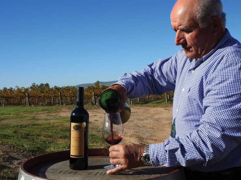 Winemaker Charlie Scalzi at God's Hill Wines