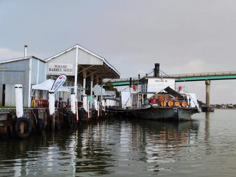 The PS Oscar W. at the Goolwa Wharf