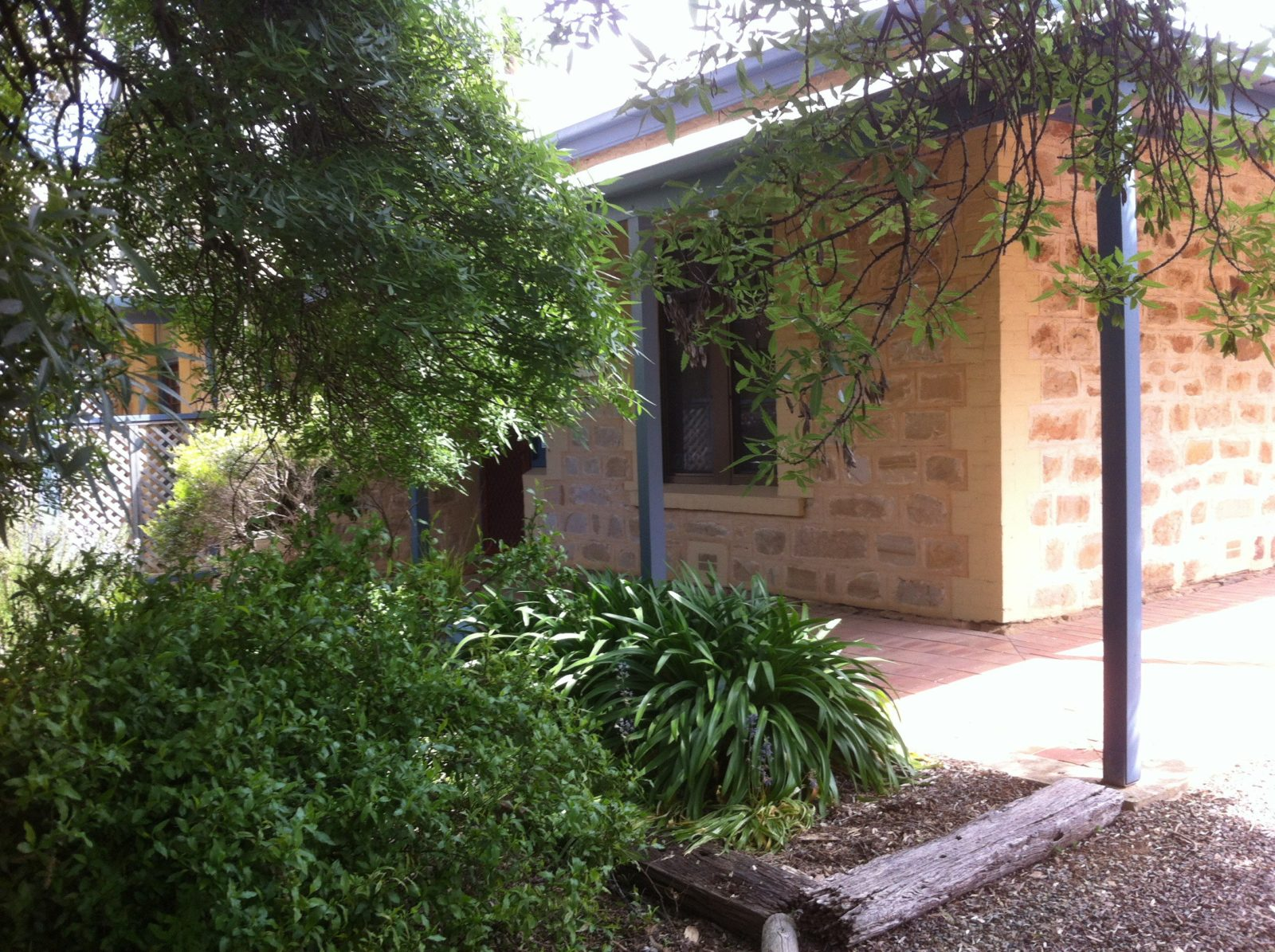 Granmas Cottages nicely sheltered by trees to keep cool in summer.