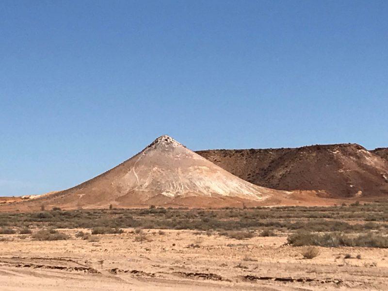 Formations in Kanku Breakaways Conservation Park against blue sky