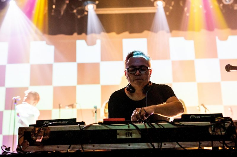Groove Terminator DJing on stage.