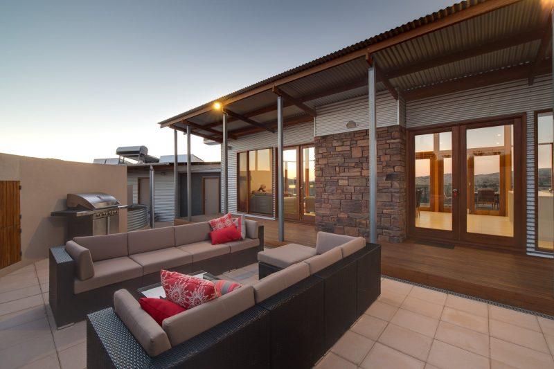 Lodge courtyard