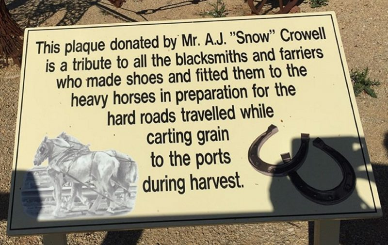 Donated by Mr A.J (Snow) Crowell