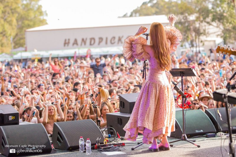 Crowd shot while Vera Blue performs at Handpicked Festival