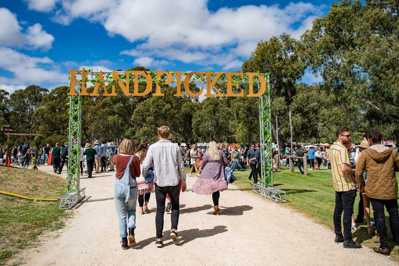 Handpicked Festival - Handmade Entrance Sign