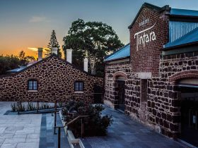 Hardys Tintara Winery facade at sunset