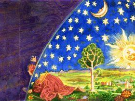 Painting by Judit Clingan representing Harmonia Mundi - harmony of the worlds
