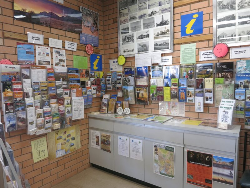 brochures in the Hawker Visitor Information Centre