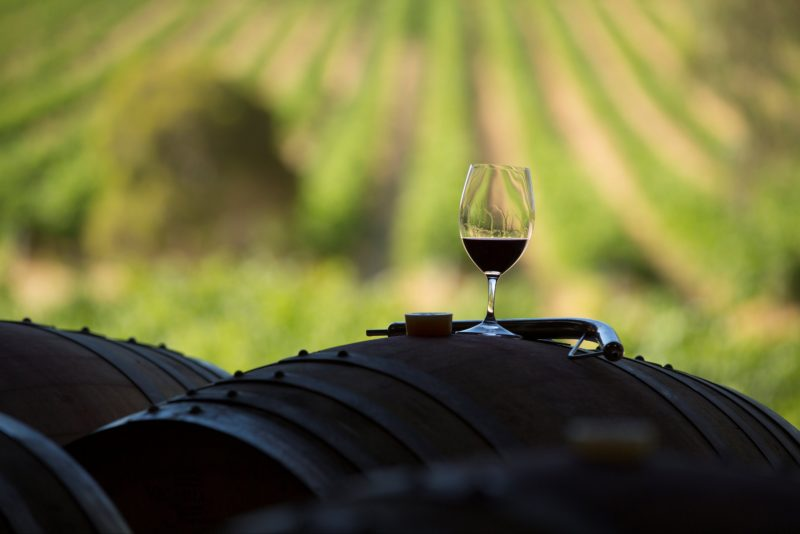A nice glass of red straight from barrel