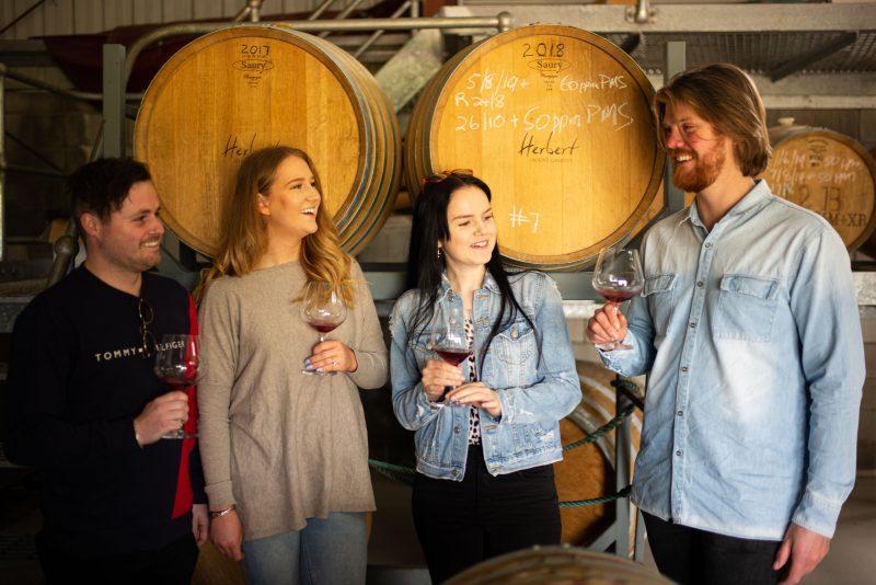 Barrel Wine Tasting Herbert Vineyard
