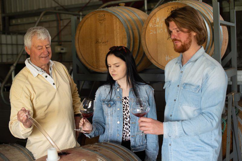 Barrel Wine Tasting Herbert Vineyeard