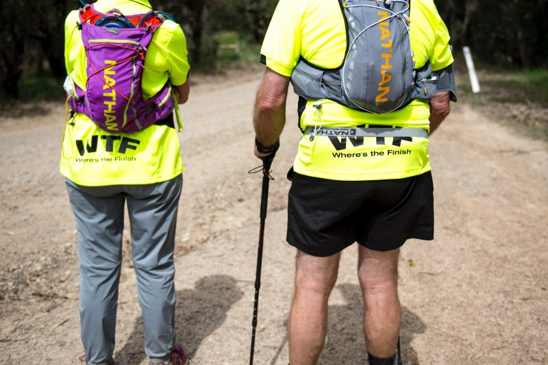 Walking is utilised as a tactic to complete the 105km endurance event.
