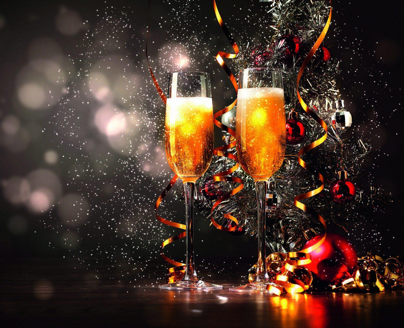 Champagne and streamers. Hilton Adelaide Festive Season 2018.