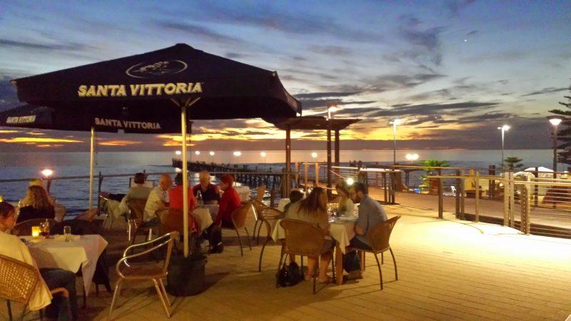 Sunset dining overlooking Port Noarlunga Jetty