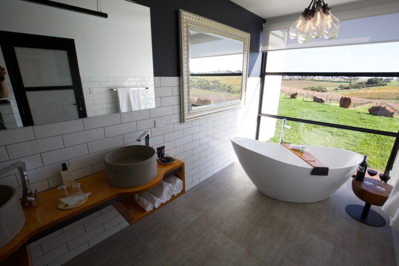 best bathroom McLaren Vale luxury accommodation Hotel California Road at Inkwell Wines top winery