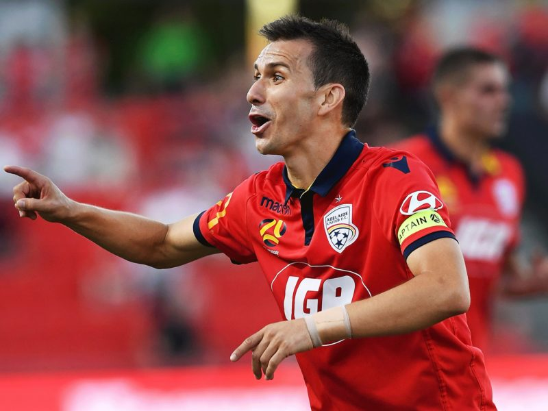 Reds Captain Isaías in action against Perth Glory last season.