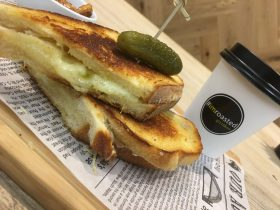 Cheese toastie arabica coffee take away fleurieu milk company