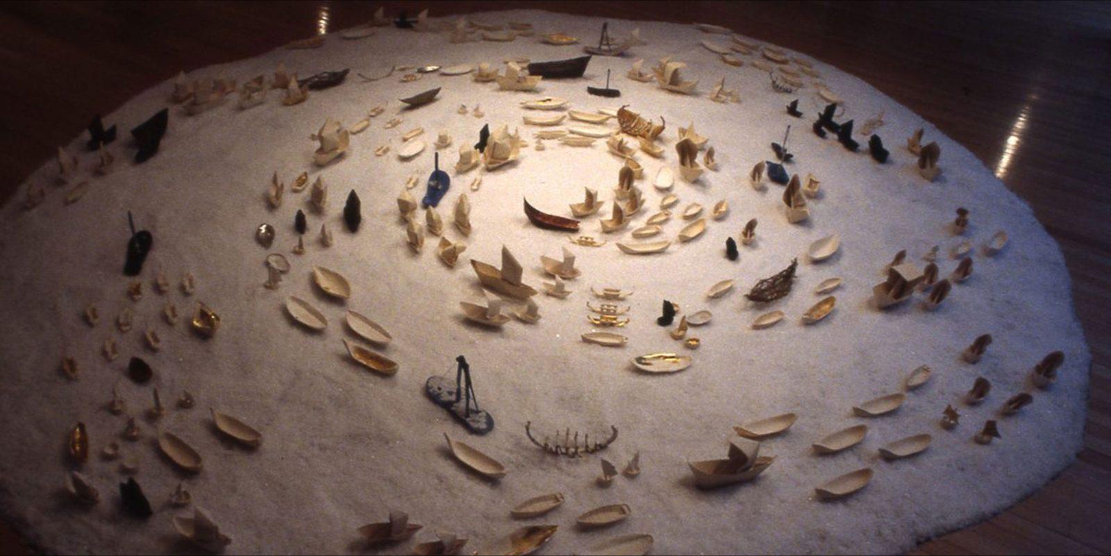 Island to Inland Exhibit, Flotilla, mixed media, dimensions variable