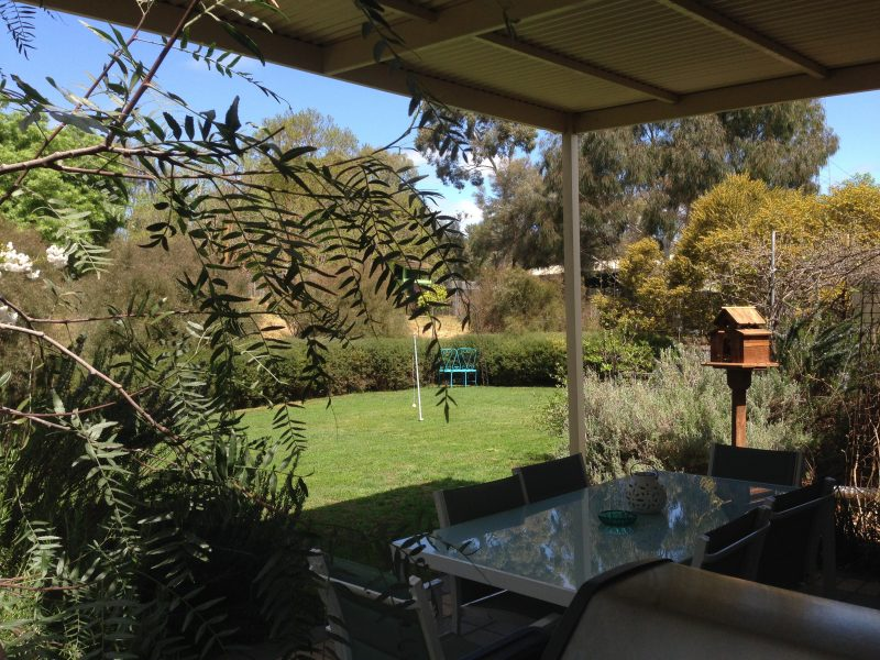 Back garden view with Undercover outdoor entertaining