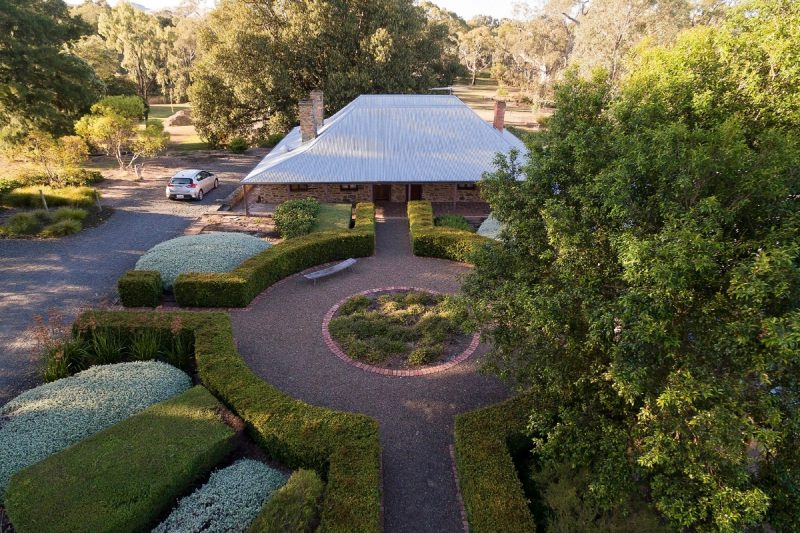 Aerial view of Jacob's Estate Cottage