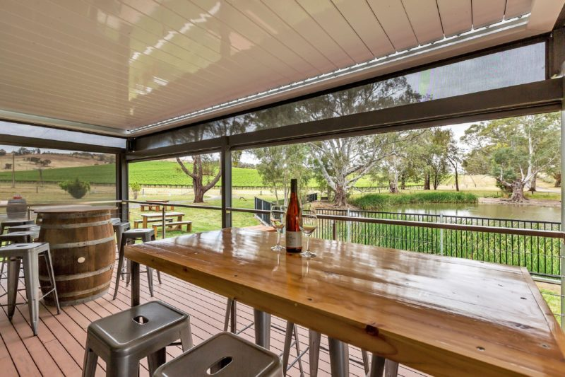 Deck area to enjoy a glass of wine overlooking the duck pond.
