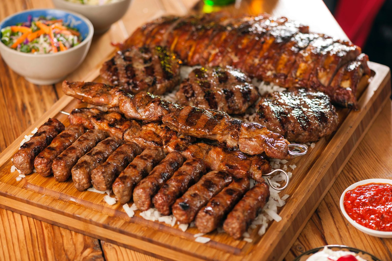 Traditional Serbian meat platter