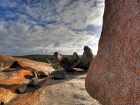 Remarkable Rocks at Sunset, clouds, seasonal kangaroo island