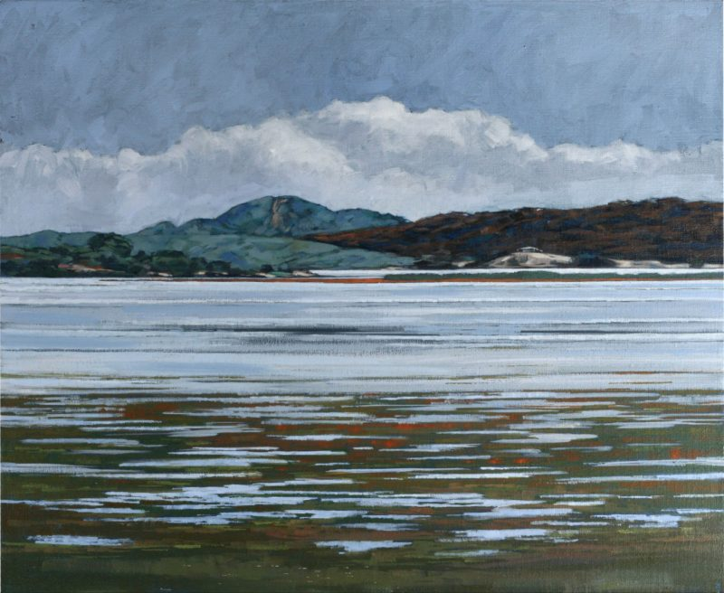 Kangaroo Island Nick Pike lives and paints from his home studio at Pelican Lagoon.