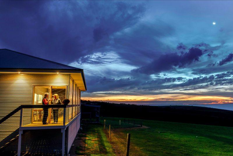 The Kangaroo Island Source kitchen overlooking spectacular Penneshaw