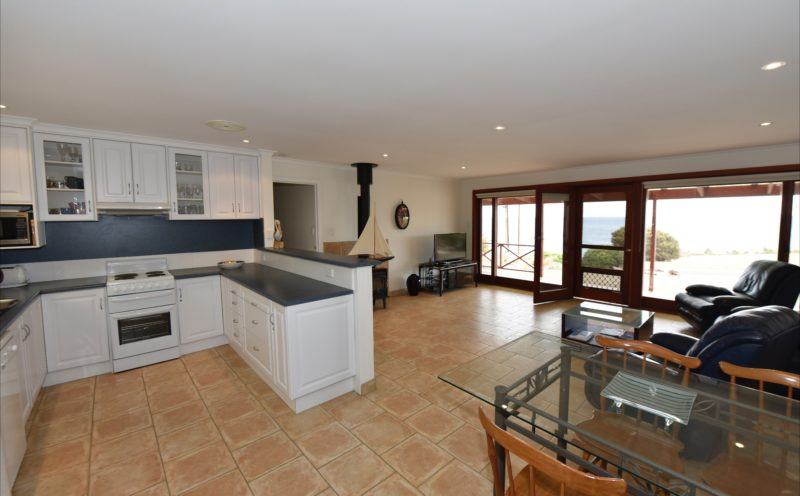 View of kitchen lounge