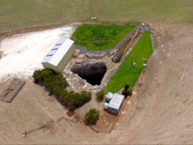 Aerial image of Kilsby Sinkhole,