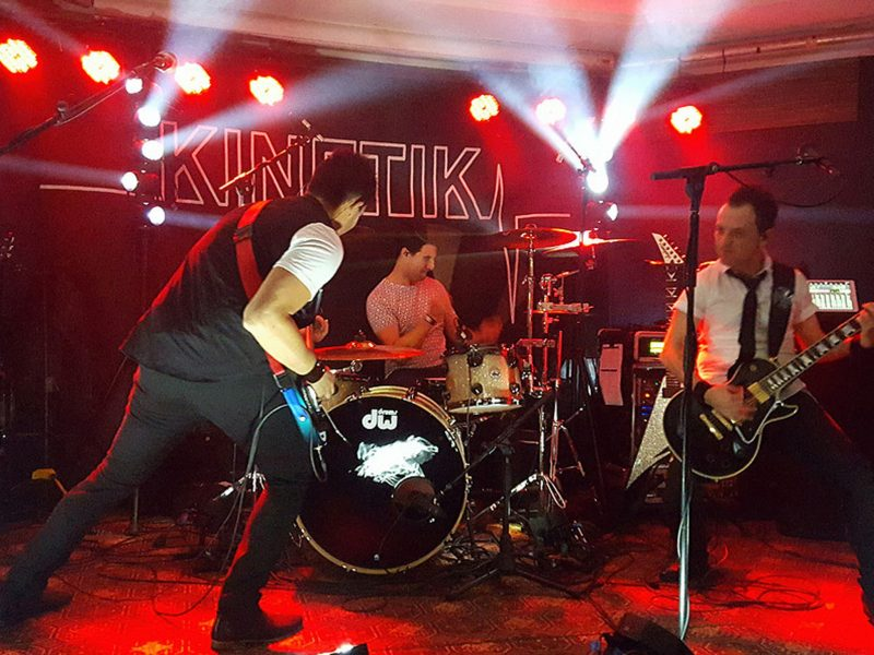 Energetic party band Kinetik will play live at the Tanunda Clubhouse