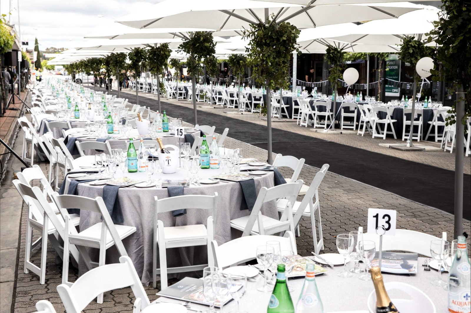 The Mercedes Benz Unley Long Lunch on King William Road for Adelaide Fashion Festival