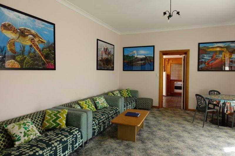Ocean themed lounge