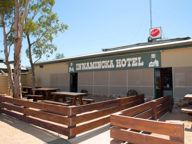 Innamincka Hotel. An oasis in South Australia's rugged outback.