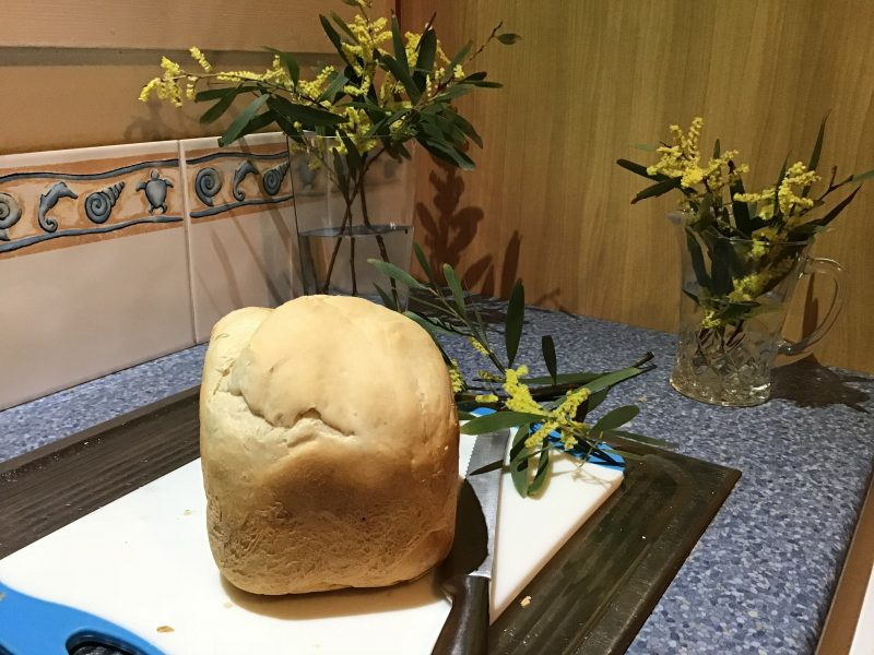 Fresh homemade bread by you in our breadmaker