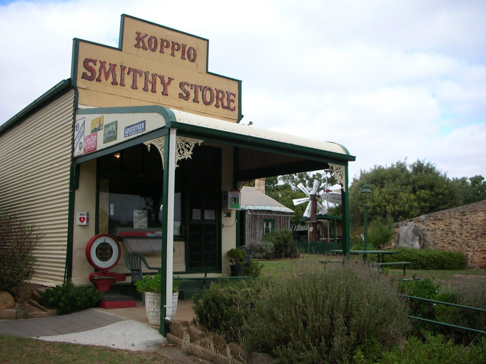 Historic shop at the entrance