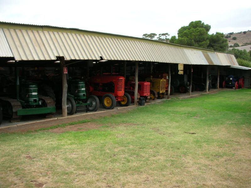 Tractor and Harvester Shed