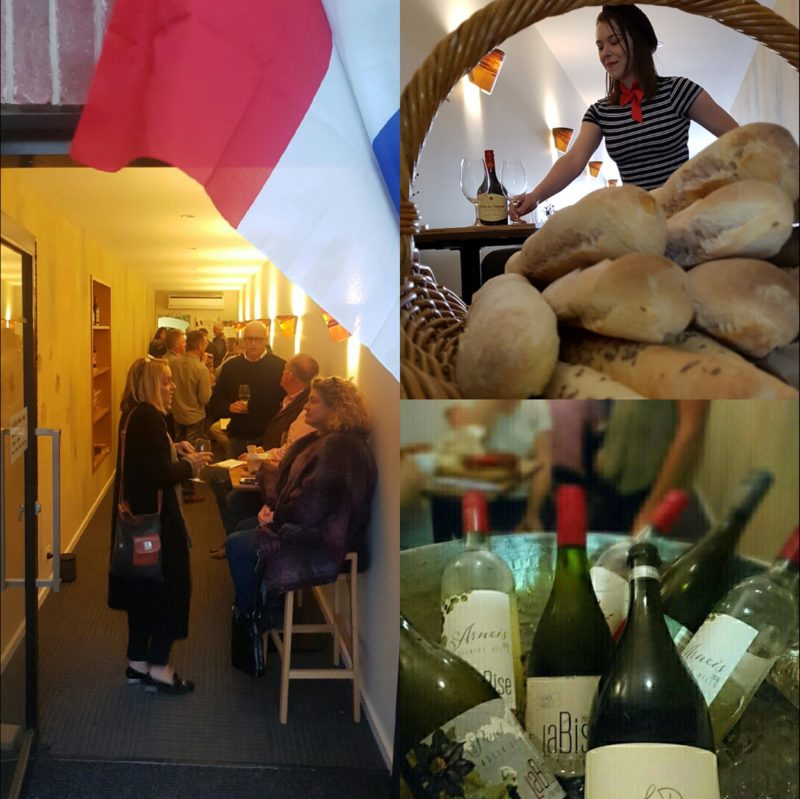 French night, wines on ice, local baked baguette