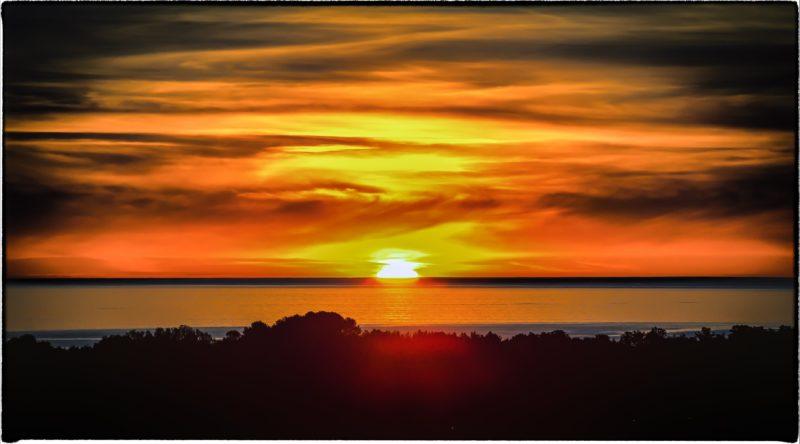 beach, sunset