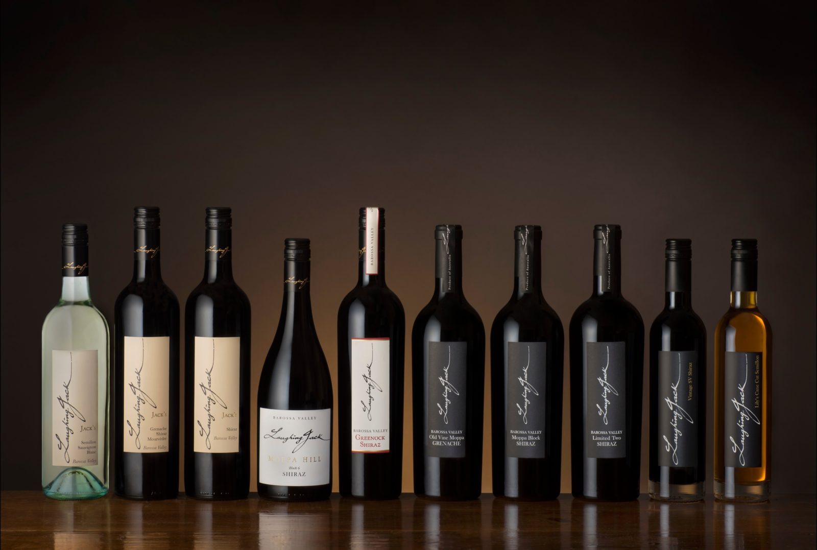 Laughing Jack's full range of wines