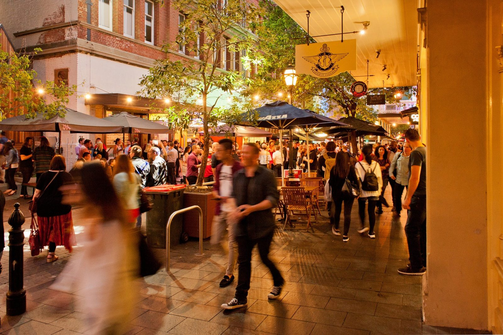 people dining and drinking festival