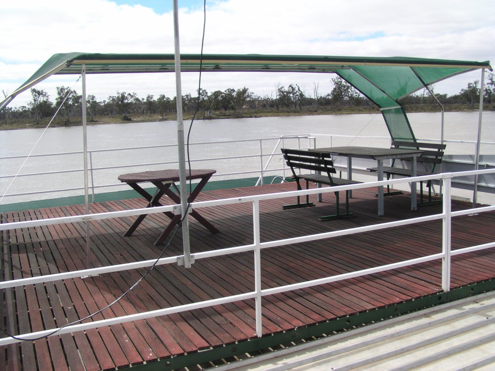 top deck with awning
