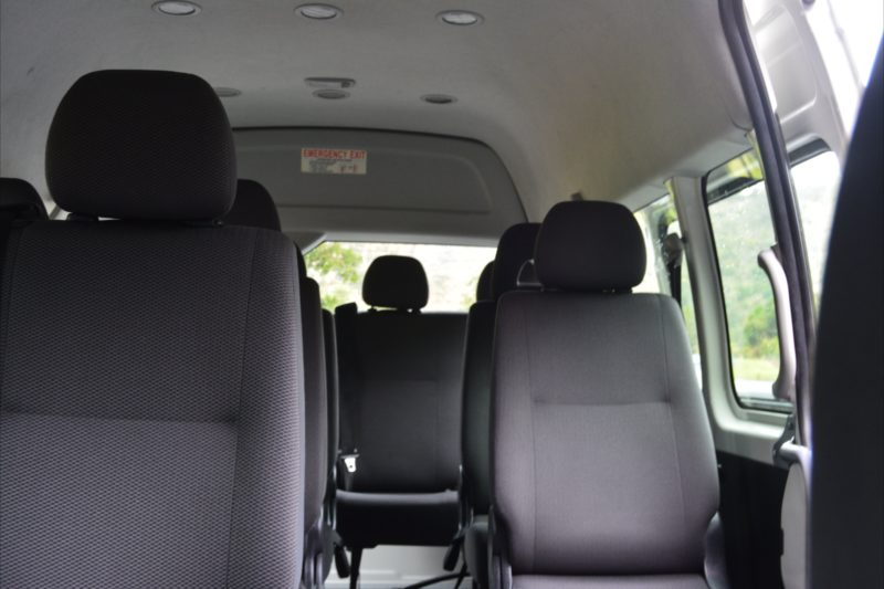 Picture of seats inside 12 Seater Toyota HiAce